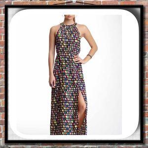 Love Ady Geometric Sleeveless Maxi Dress